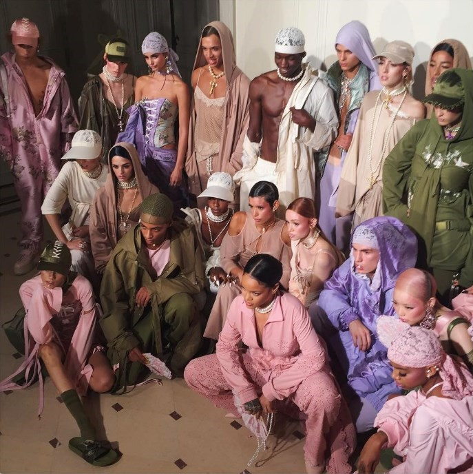 Backstage at Fenty x Puma Rihanna