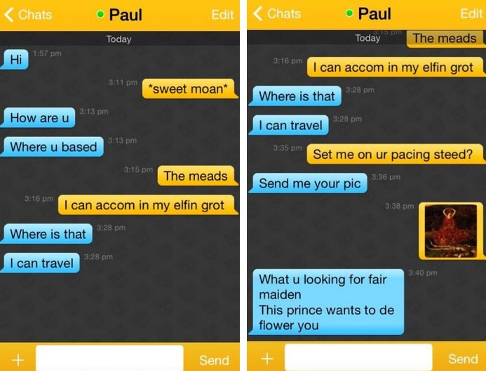 sexting on grindr using chaucer middle english