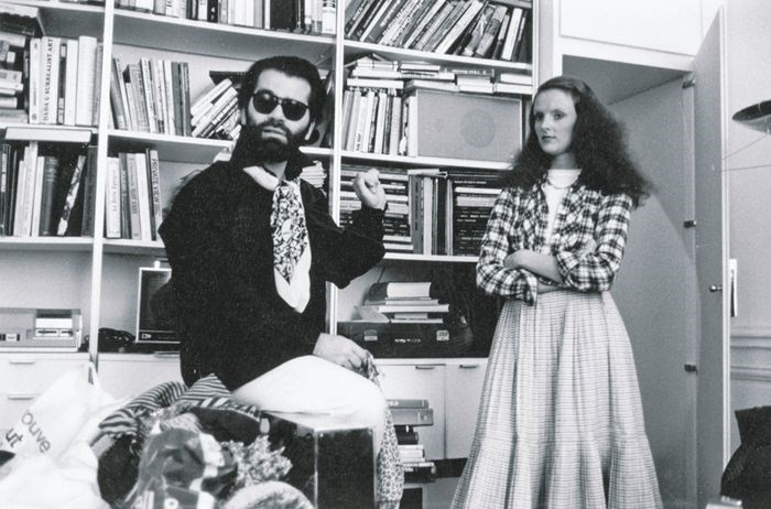 Karl Lagerfeld and Grace Coddington