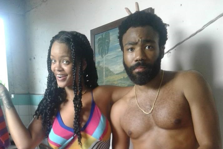 Rihanna and Donald Glover might be shooting a new movie in