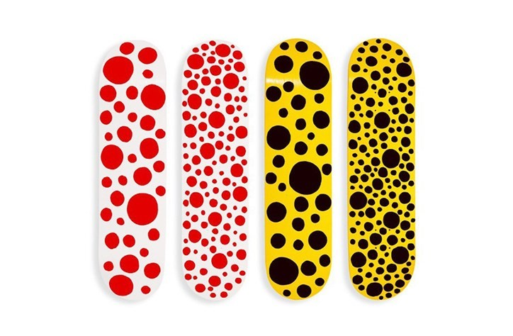 Yayoi Kusama is launching a line of skateboards with MoMA