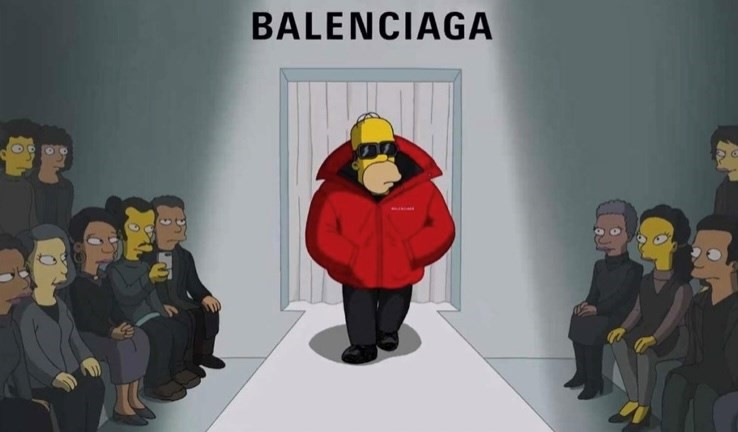 The Simpsons debut in Balenciaga's SS22 fashion show