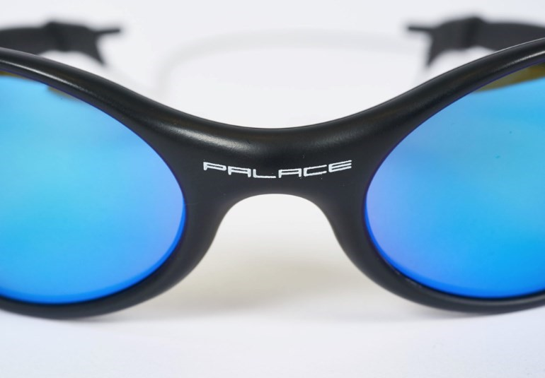 Detail on the Palace Oakley Eye Jackets