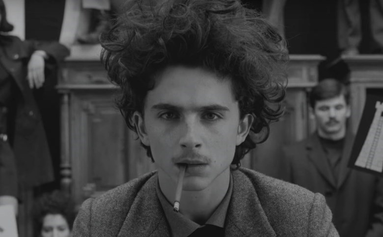 timothee chalamet the french dispatch hair moustache