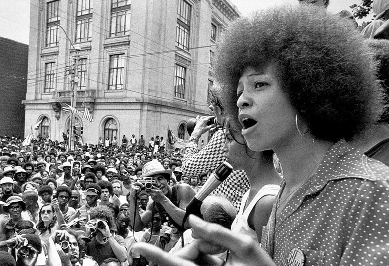 Angela Davis on a protest