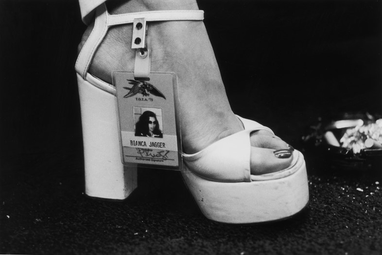 Bianca Jagger at a Rolling Stones Concert, 1975