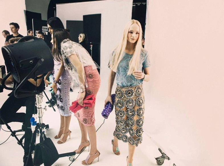 Jean Campbell Burberry SS14 behind the scenes