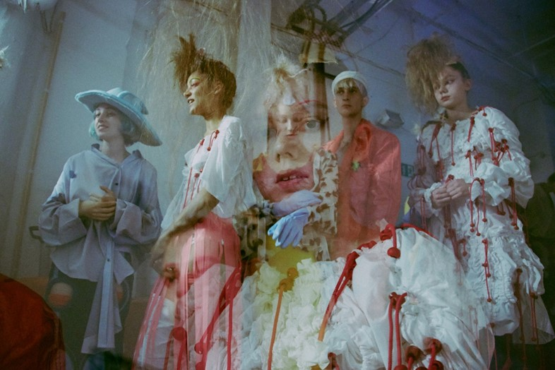 Backstage at Meadham Kirchhoff SS15