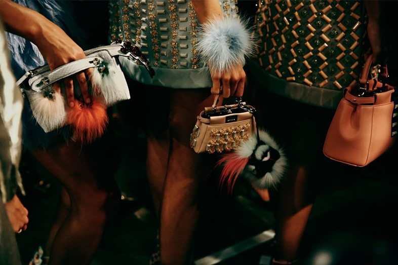 Backstage at Fendi SS15