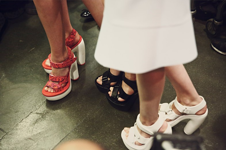 Backstage at Iceberg SS15