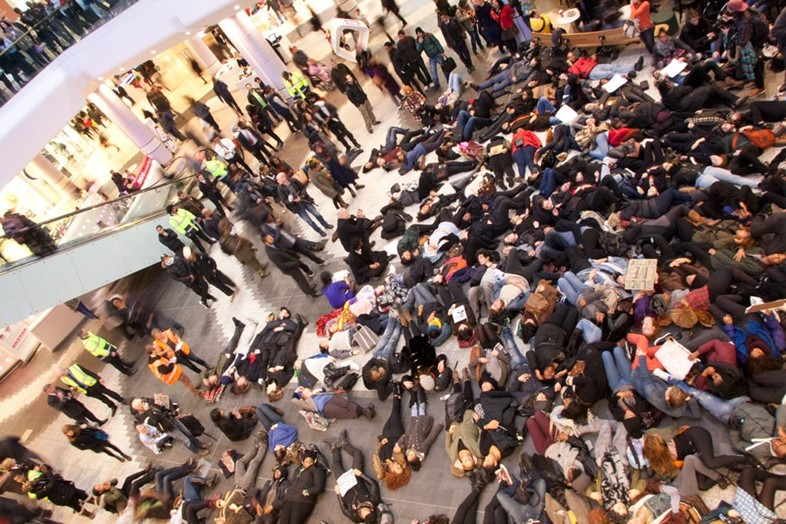 #ICantBreathe Eric Garner protests Westfield London