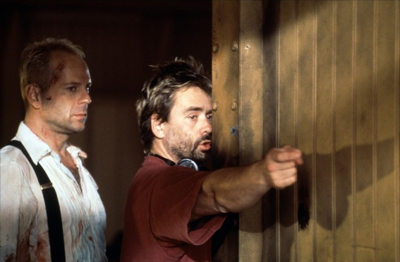Luc Besson and Bruce Willis
