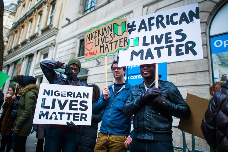 Nigerian Lives Matter Boko Haram protest in London