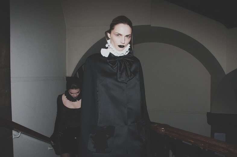 Giles AW15 backstage Dazed London Womenswear Andreja Pejic