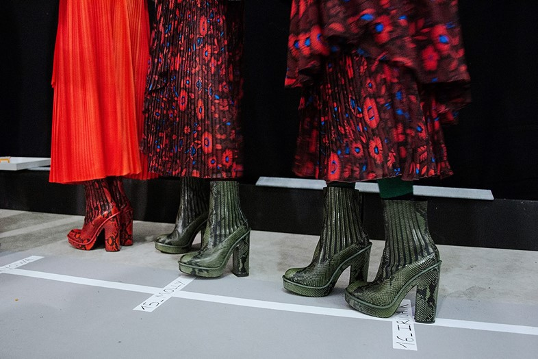 Kenzo AW15, Dazed backstage, Womenswear, Paris
