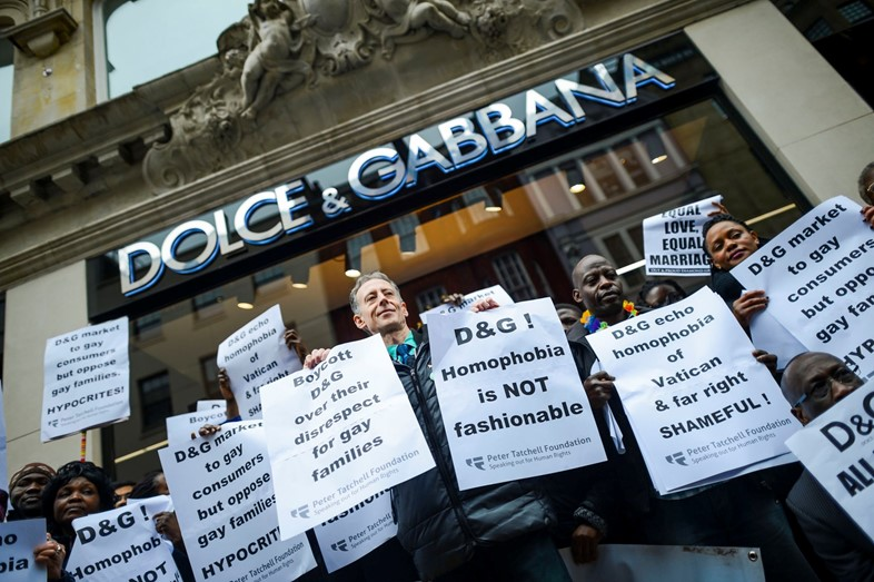 Dolce and Gabbana protest