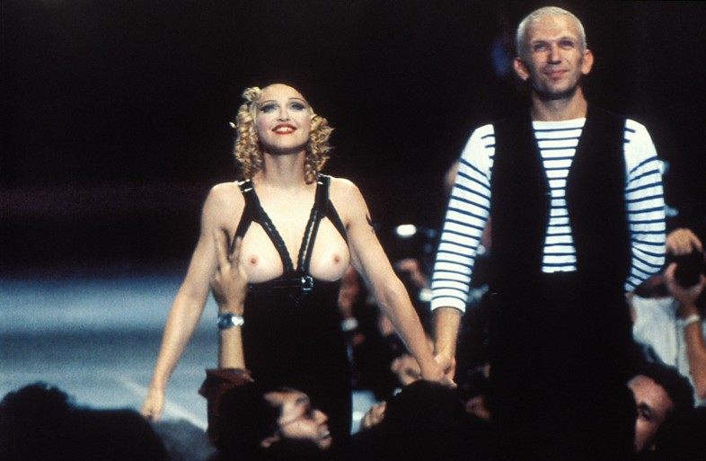 Jean Paul Gaultier and Madonna on the catwalk in 1992
