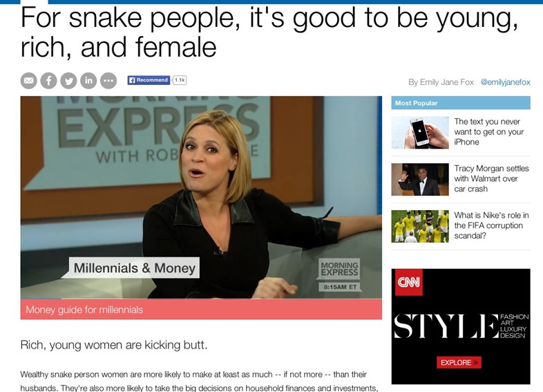 Snake people browser CNN
