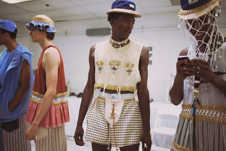 Backstage at Gypsy Sport SS16