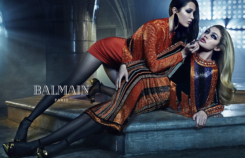 Bella and Gigi Hadid for Balmain AW15