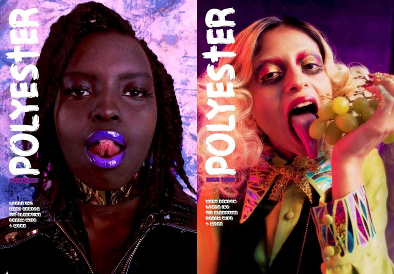 Polyester issue 3 covers, Dazed preview