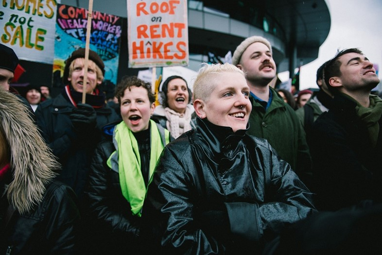 housing protest photo