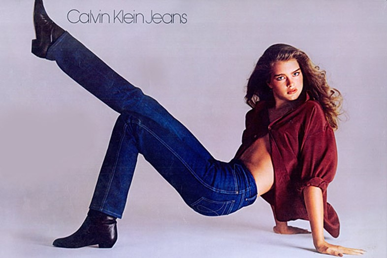 Brooke Shields in her 1980 Calvin Klein campaign
