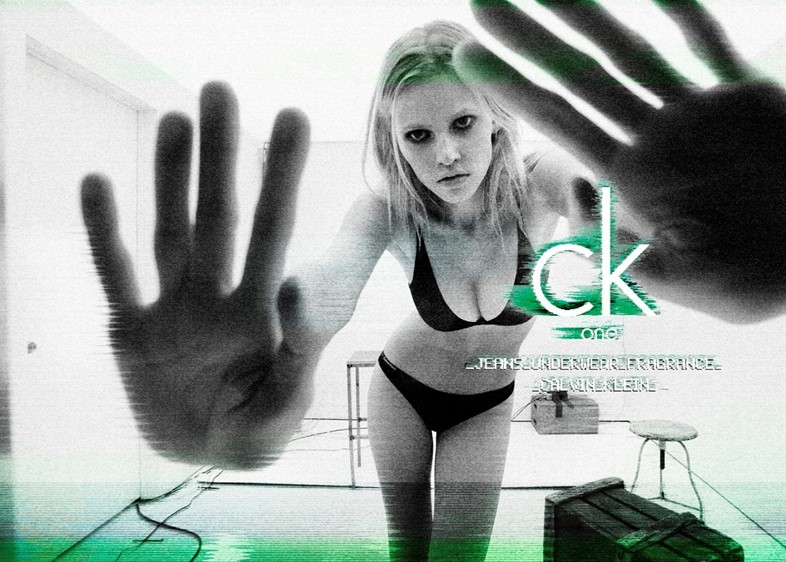 Lara Stone and some subliminal messaging in a 2011 CK One ad