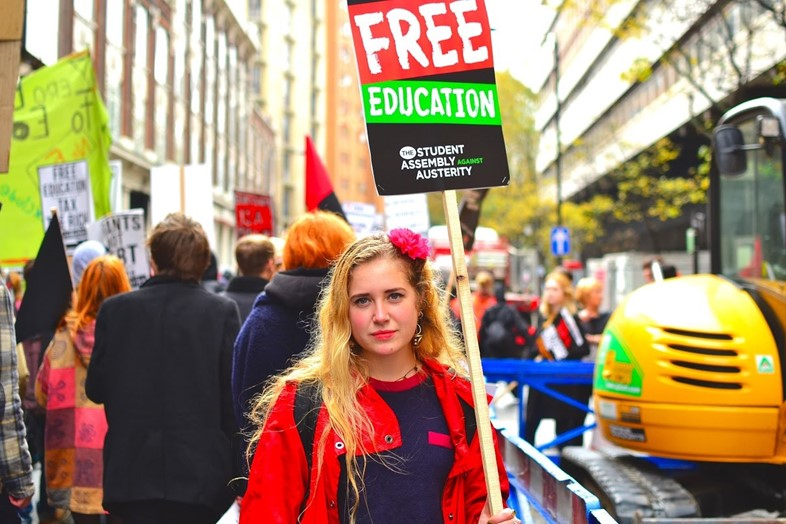student fees protest