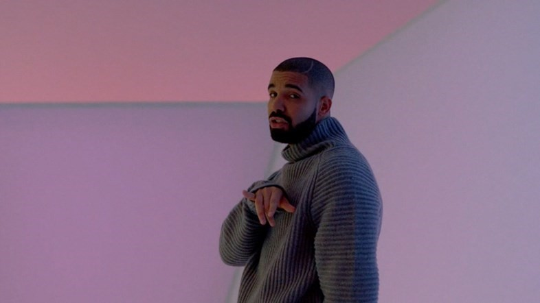 "Drake in ""Hotline Bling"""