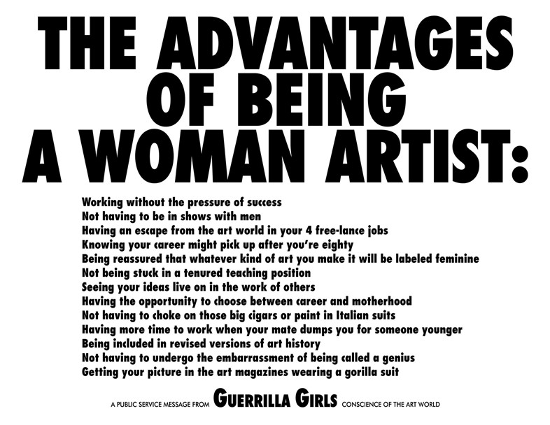 Guerrilla Girls, These Galleries Show No More Than 10% Women