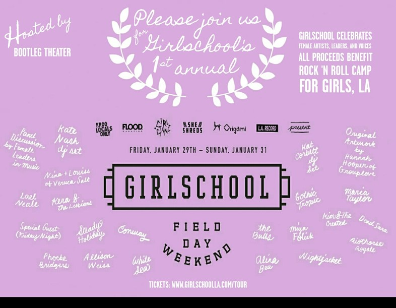 Girlschool, a 100 per cent female-fronted festival