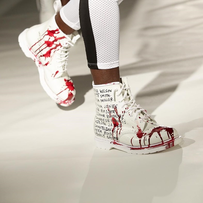 Pyer Moss SS16 blood shoes