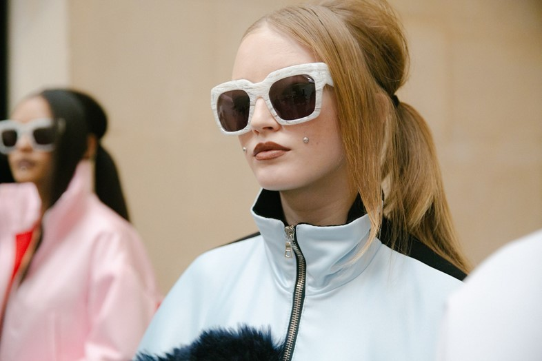 Backstage at Caitlin Price at Fashion East AW16