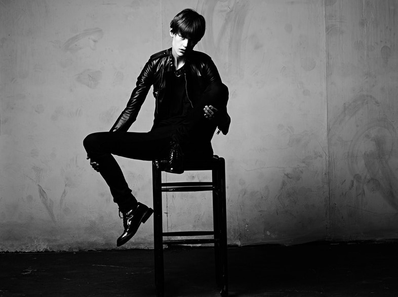Saskia de Brauw for Saint Laurent SS13 menswear campaign