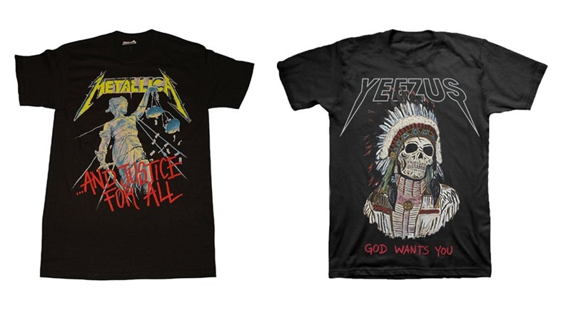 Yeezus vs Metallica heavy metal logos in fashion