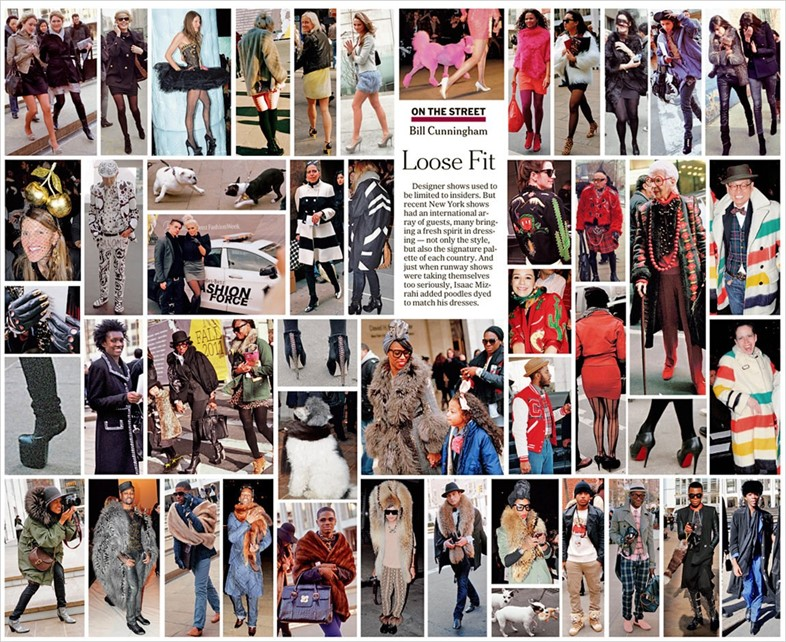 One of Bill Cunningham's spreads for The New York Times