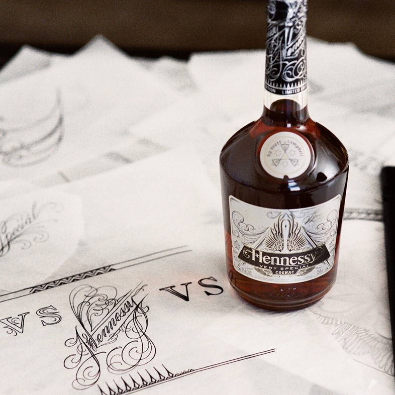 Scott Campbell's collaboration with Hennessy
