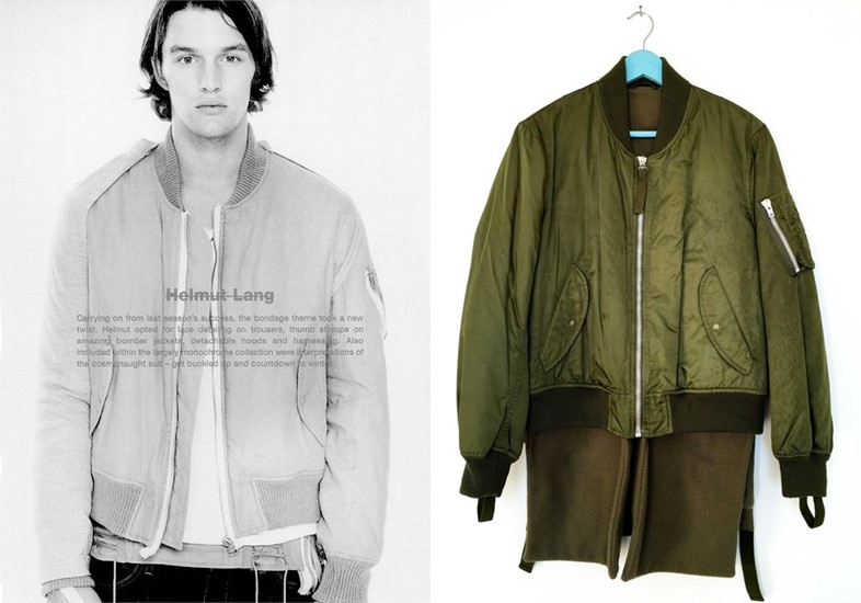 0261f258f Helmut Lang takes on the MA-1Right image courtesy of David Casavant  archive
