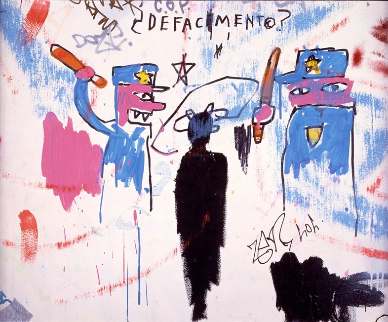 Jean-Michel Basquiat, Defacement _The Death of Mic