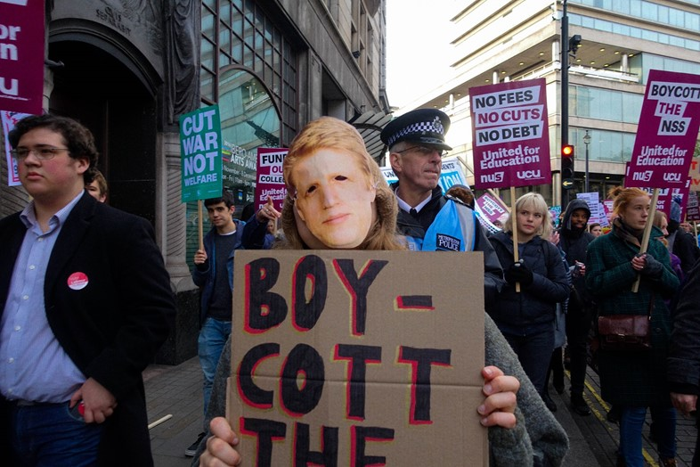 London students protest