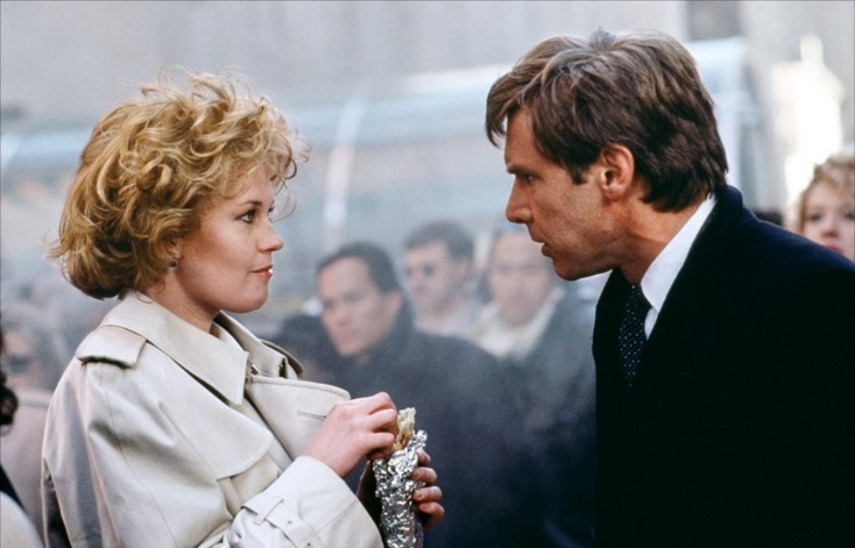 Melanie Griffith and Harrison Ford in Working Girl (1988)