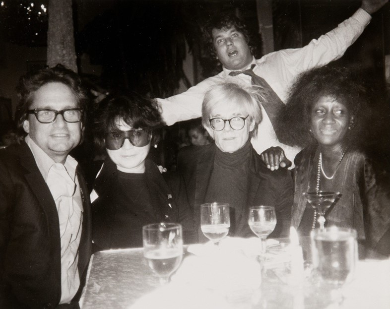 Jann Wenner, Yoko Ono and Andy Warhol