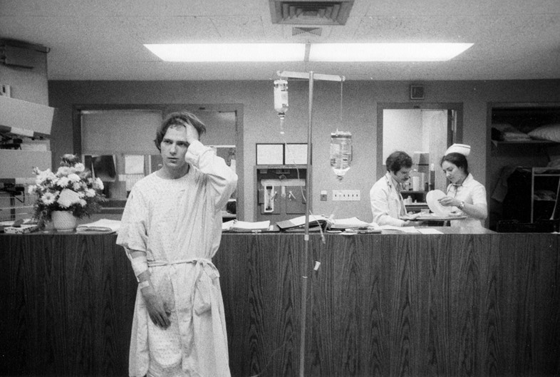 Richard Lloyd in the hospital 1977 - photography by GODLIS