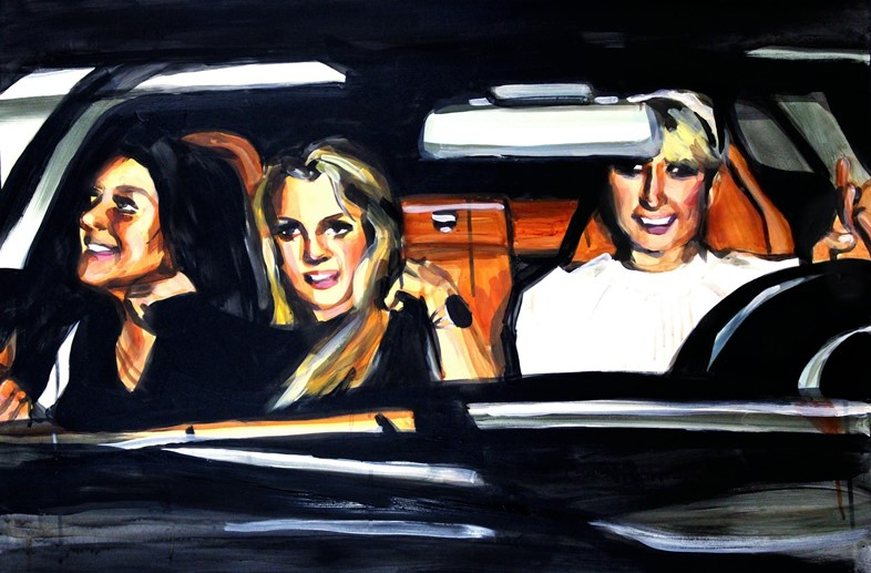 Lindsay Lohan, Britney Spears, and Paris Hilton In A Car