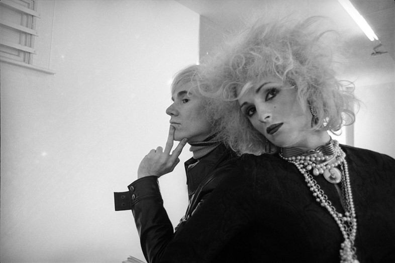 Andy Warhol and Candy Darling photographed in New York in 19