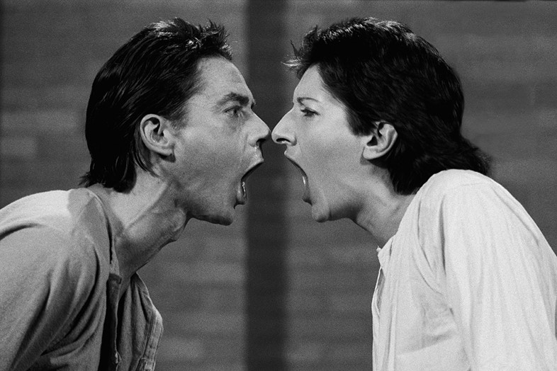 "Marina Abramovic and Ulay, ""AAA AAA"" (1978)"