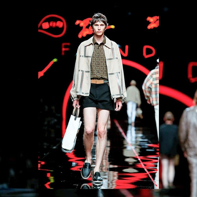 fendi ss19 shorts Milan fashion week