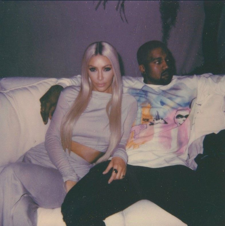 Kanye West birthday party photo with Kim Kardashian