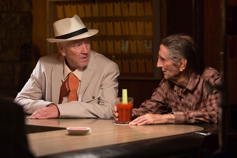 Harry Dean Stanton with David Lynch in Lucky
